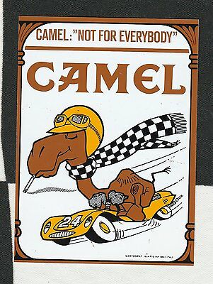 Camel Cigarette Not For Everybody Original Period Sticker Autocollant Le Mans 24