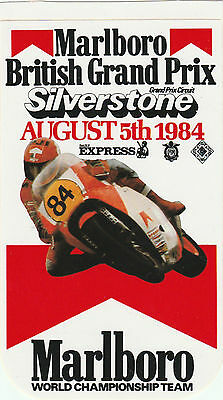 Marlboro British Gp 1984 Motogp 500Cc Silverstone Period Sticker Adesivo Sheene