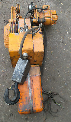 Felco Mb80 1000 Kg/1 Ton 3 Phase Electric Chain Hoist/crane/winch. Gantry.
