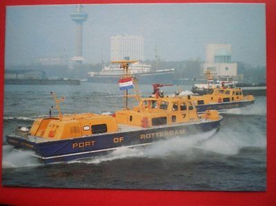 Postcard Hovercraft Hms Sidewall Hovercraft In Port Of Rotterdam