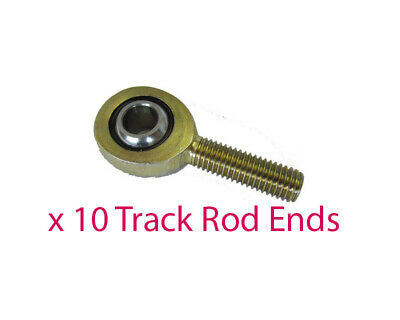 Pack of 10 x M10 Male L/H Track Rod End Premium Nylon Lined Go Kart