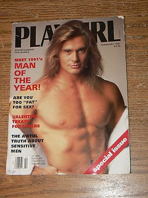 Vintage February 1991 Playgirl Magazine Man of the Year RARE Variant Cover Image