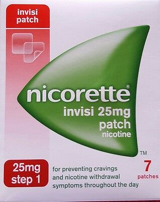 Nicorette Invisi 25mg Patch - Step 1 - 7 Patches. BNIB