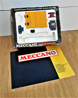 Meccano Electronic Control Set (Part Complete) - Blue Box - With Instructions