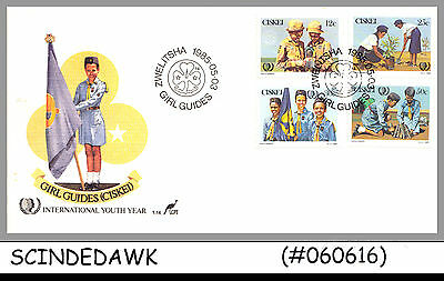 Ciskei - 1985 Girl Guides / International Youth Year / Scout - 4V - Fdc