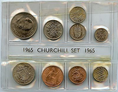 50th Birthday Coin Set 1965-2015 In Plastic Sleeve 1965