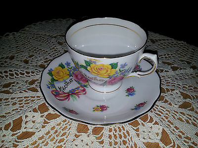 Vintage Royal Vale Mother Cup and saucer