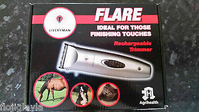 LIVERYMAN FLARE horse / pony RECHARGEABLE TRIMMERS