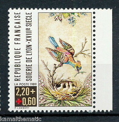 France 1989 MNH, Birds, Surcharge, Red Cross - R38