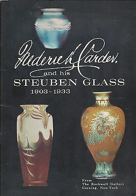 "1968 ""frederick Carder And His Steuben Glass"" Rockwell Gallery Exhibit Booklet"