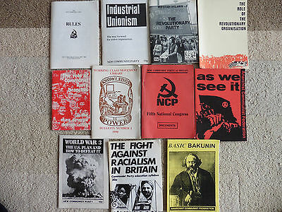 Anarchist Communist Federation, New Communist Party, Pamphlets, 1980's