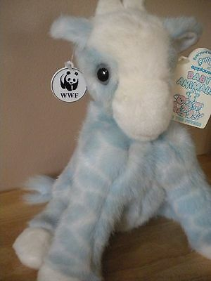 WWF Applause Baby Animals Plush Baby Giraffe 1990 W/ Tags RARE!!