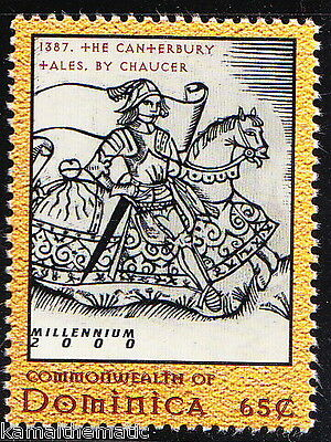 Dominica MNH, Canterbury Tales by Chaucer  Father of English literature -A25