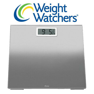 Weight Watchers Ultra Slim Designer Glass Precision Electronic Bathroom Scale