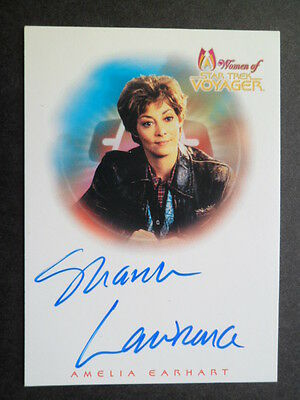 'women Of The Star Trek Voyager'  'amelia Earhart' Signed.    1 Card   V/g