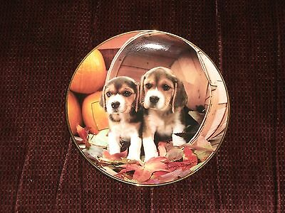 The Franklin Mint Bushel O' Beagles Larry Grant Collector Plate 24kt Gold Trim