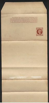 BARBADOS QUEEN VICTORIA 1/2d STATIONERY NEWSPAPER WRAPPER UN-USED
