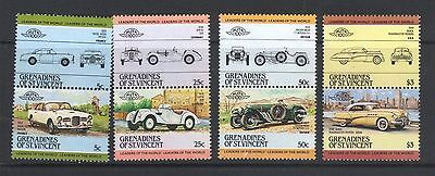 GRENADINES OF ST VINCENT 1984 LEADERS OF THE WORLD AUTOMOBILES 1s SERIES  MNH