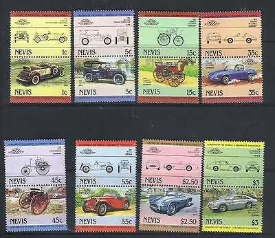 NEVIS 1984 LEADERS OF THE WORLD AUTOMOBILE CARS 1st SERIES SET MNH