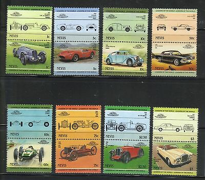 NEVIS 1985 LEADERS OF THE WORLD AUTOMOBILE CARS 3rd SERIES SET MNH