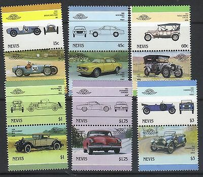 NEVIS 1986 LEADERS OF THE WORLD AUTOMOBILES CARS 6th SERIES SET MNH