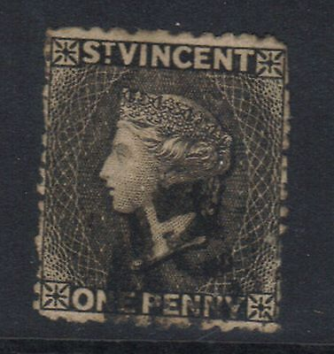 ST VINCENT 1875-78 PERF 12.5 X 15  1d BLACK USED