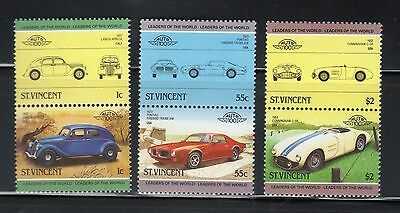 ST VINCENT 1985 LEADERS OF THE WORLD AUTOMOBILES CARS 3rd SERIES SET MNH