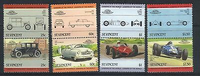 ST VINCENT 1985 LEADERS OF THE WORLD AUTOMOBILES CARS 4th SERIES SET MNH