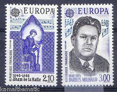 Franch 1985 MNH 2v, Performance, Music Staves, Europa  - M31