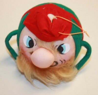 Vintage Angry Elf Ball Ornament Made in Japan