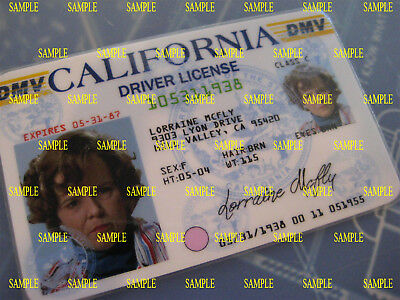 Back to the Future -Lorraine McFly -Old 1985 - License - Prop-Cosplay-Novelty -