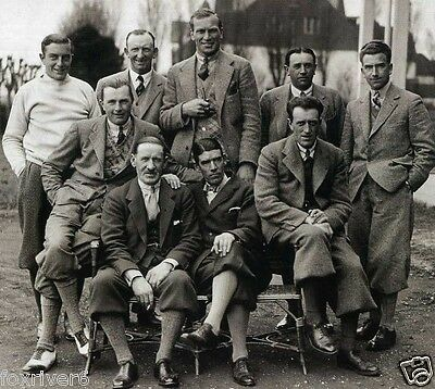 Great Britain RYDER CUP 1929 Photograph - 9 Man Team - Henry Cotton / reprint