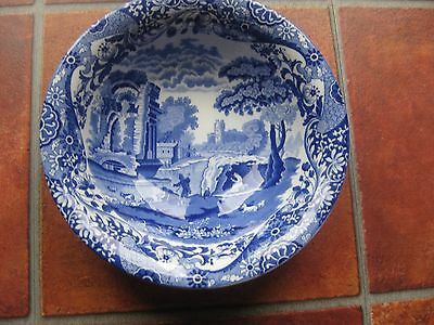 "VINTAGE Art Deco Spode Blue Italian salad bowl 9.5"" BLUE"
