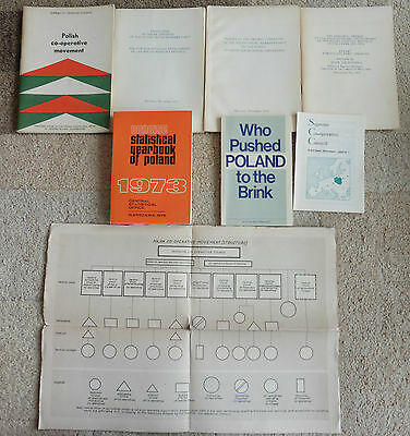 Poland, Communist Era, Co-Operative Movement, Pamphlets, Booklets,