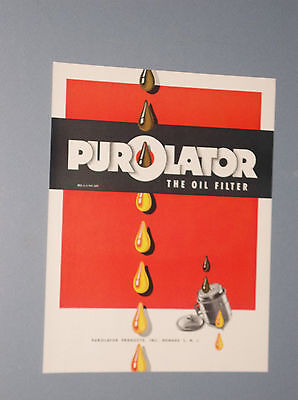 1944 Purolator Oil Filter Ad Vintage Oil Filter Ad