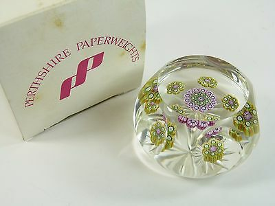 """PERTHSHIRE Paperweight - Facetted Paperweight - 2 1/2"""""""