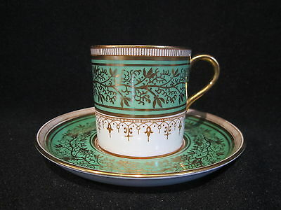 Aynsley - 7098 GREEN - Demitasse Cup and Saucer