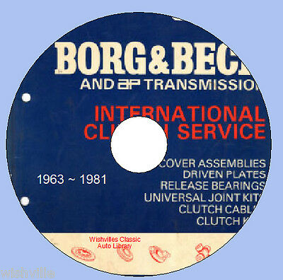 Borg & Beck Transmission Spares Information 1963 to 1981 DVD ROM