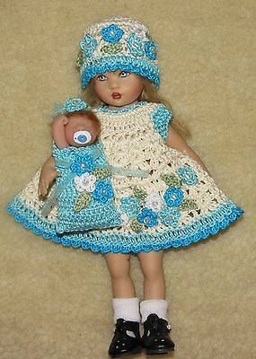 Thread Crochet Outfit with OOAK Baby Bundle fits Riley Kish Dolls