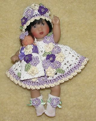 Thread Crochet Outfit with Baby Bundle fits Ellery Kish Dolls