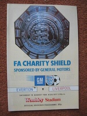 1984 CHARITY SHIELD: EVERTON v LIVERPOOL