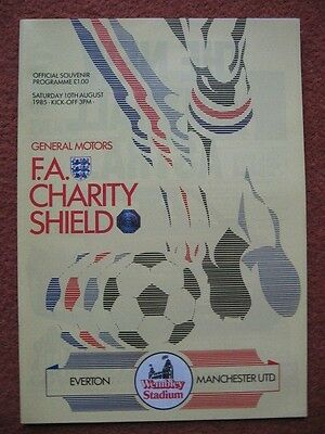 1985 CHARITY SHIELD: EVERTON v MANCHESTER UNITED
