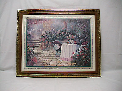 """Home Interior Homco""""A Patio Garden W Table Setting""""Picture(DS)""""Thur Gods grace"""""""