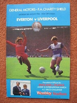 1986 CHARITY SHIELD: EVERTON v LIVERPOOL