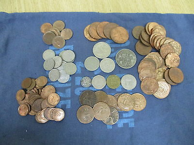 Lot of British Pre-Decimal Coin and Worldwide Currency e.800g+