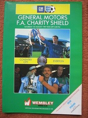 1987 CHARITY SHIELD: EVERTON v COVENTRY CITY