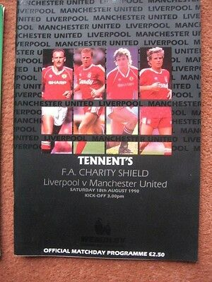 1990 CHARITY SHIELD: MANCHESTER UNITED  v LIVERPOOL
