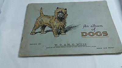 Vintage Wills Cigarette Card Album of Dogs