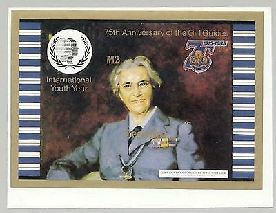 Lesotho #491 Lady Baden Powell, Scouts 1v Imperf Proof of S/S
