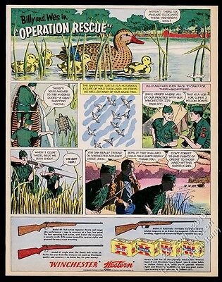 1961 Winchester model 69 67 77 rifle Boy Scouts hunting art vintage print ad